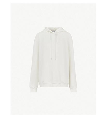 NINETY PERCENT Laura oversized cotton-jersey hoody (Off white