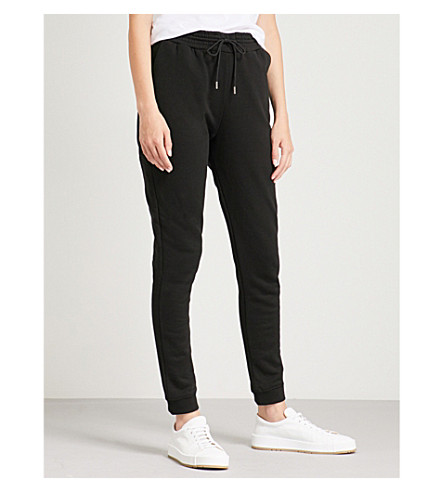 NINETY PERCENT Slim-leg cotton-jersey jogging bottoms (Black
