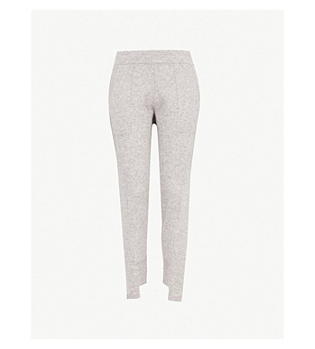 NAADAM Subsolar mid-rise slim-fit cashmere track pants (Cement