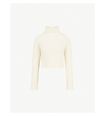 NAADAM Lassell cropped cashmere jumper (White