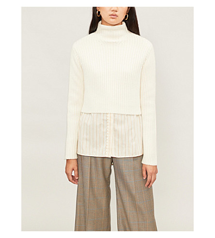 NAADAM Lassell cropped cashmere sweater (White