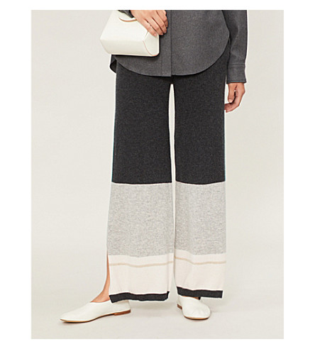 NAADAM Eunomia mid-rise regular-fit cashmere track pants (Smoke