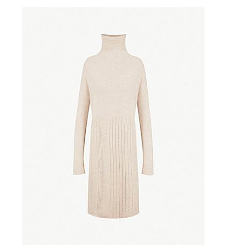 NAADAM Ribbed-knit cashmere midi dress (Oatmeal