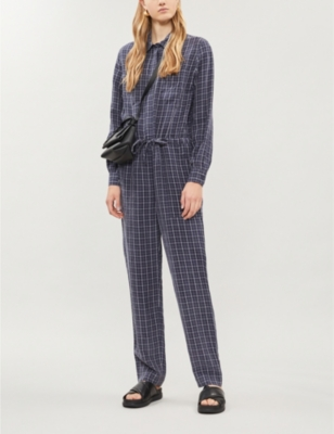 Bryum checked crepe jumpsuit