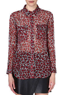 EQUIPMENT Slim Signature leopard print silk shirt