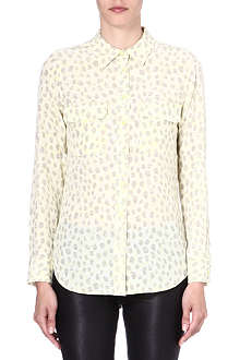 EQUIPMENT Signature animal-print silk shirt