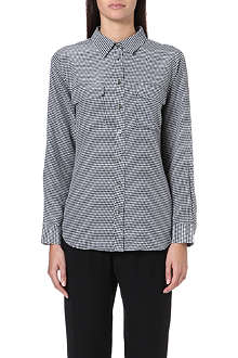 EQUIPMENT Houndstooth-patterned silk shirt