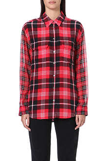 EQUIPMENT Signature plaid silk shirt