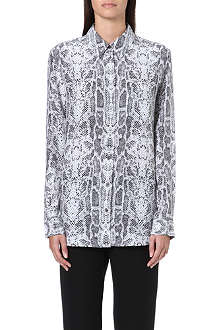 EQUIPMENT Reese cobra-print silk shirt