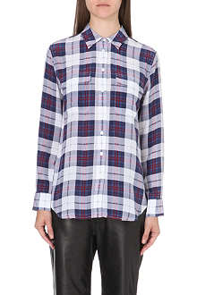 EQUIPMENT Check signature silk shirt