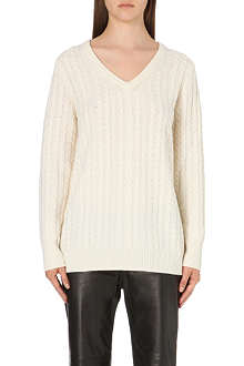 EQUIPMENT Whitney cable knit jumper