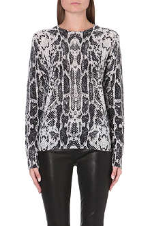 EQUIPMENT Sloane snake-print cashmere jumper
