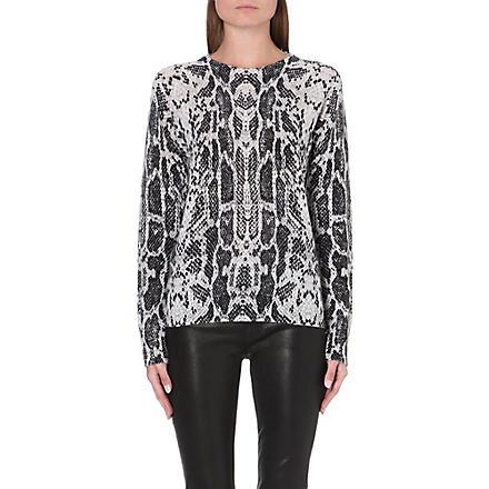 EQUIPMENT Sloane snake-print cashmere jumper (Black/multi