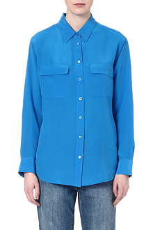 EQUIPMENT Signature solid washed-silk shirt