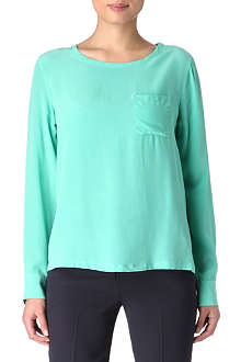 EQUIPMENT Liam pocket-detail long-sleeved top