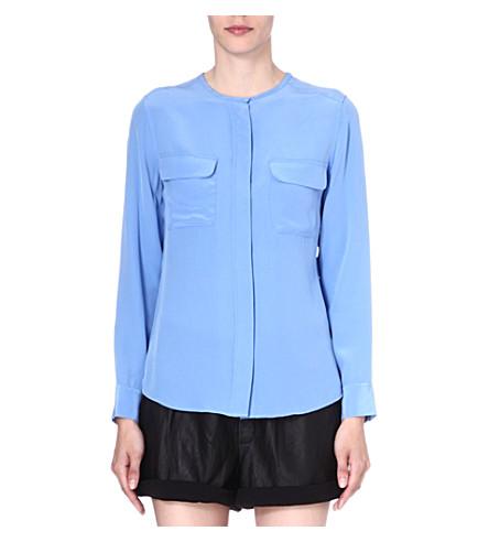 EQUIPMENT Lynn silk blouse (Hydrangea