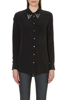 EQUIPMENT Reese jewelled-collar shirt