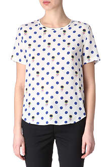 EQUIPMENT Floral dot t-shirt