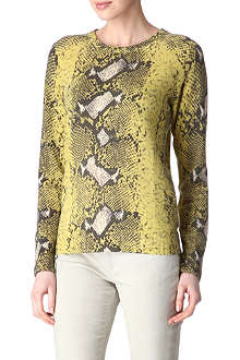 EQUIPMENT Snake-effect cashmere jumper
