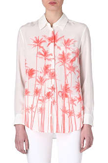 EQUIPMENT Reese palm-print shirt