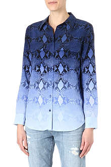 EQUIPMENT Ombré snake-print silk shirt