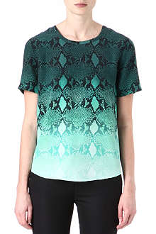 EQUIPMENT Riley snake-print silk top