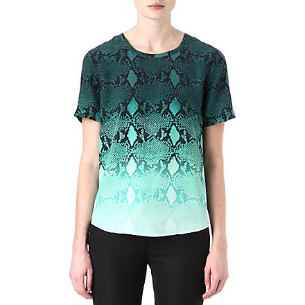 EQUIPMENT Riley snake-print silk top (Storm