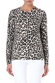 EQUIPMENT Leopard-print cashmere jumper