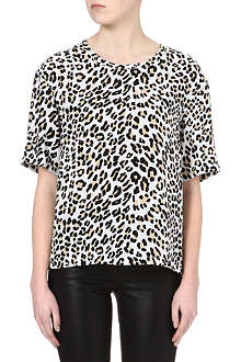 EQUIPMENT Logan leopard-print top