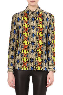 EQUIPMENT Brett snake-print silk shirt