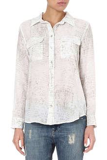EQUIPMENT Signature croc-print silk shirt
