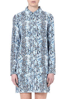 EQUIPMENT Lucida python-print dress