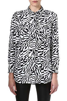 EQUIPMENT Zebra-print silk shirt