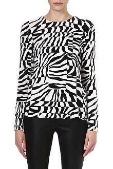EQUIPMENT Zebra-print cashmere jumper