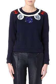 EMMA COOK Jewel necklace sweatshirt