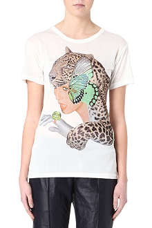 EMMA COOK Lady leopard t-shirt