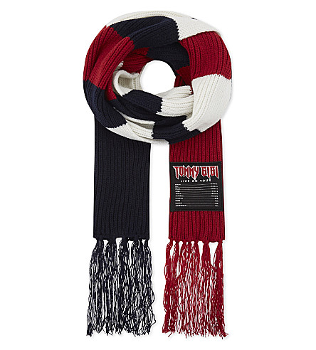 TOMMY HILFIGER Tommy x Gigi wool scarf (Corporate+clrs