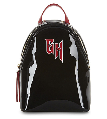 TOMMY HILFIGER Tommy Hilfiger x Gigi Hadid patent leather backpack (Black/red