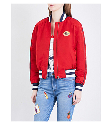 TOMMY HILFIGER Gigi Hadid bomber jacket (Apple+red