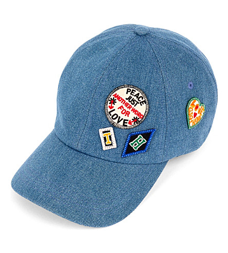 TOMMY HILFIGER Gigi Hadid patch-detail denim cap (Denim