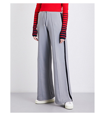 TOMMY HILFIGER Tommy Hilfiger x Gigi Hadid flared high-rise jersey jogging bottoms (Sharkskin