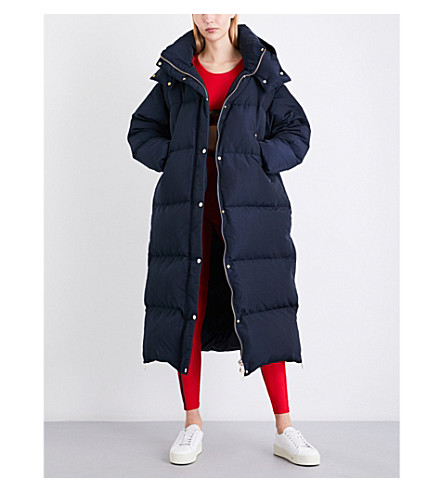 TOMMY HILFIGER Tommy Hilfiger x Gigi Hadid oversized padded hooded shell coat (Midnight