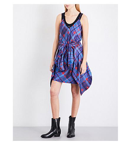 TOMMY HILFIGER Tommy Hilfiger x Gigi Hadid checks and stars-print silk-twill slip dress (Star+prt