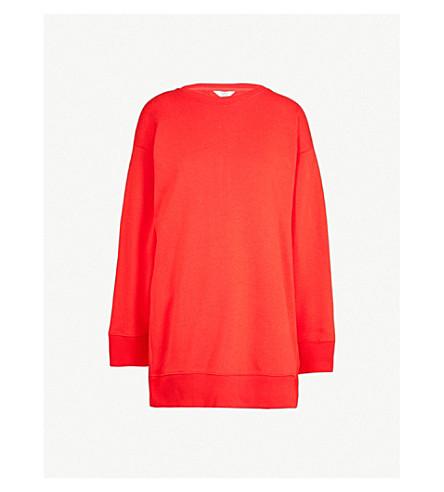 TOMMY HILFIGER Tommy Hilfiger x Gigi Hadid jersey open-back jersey sweatshirt dress (Flame+scarlet