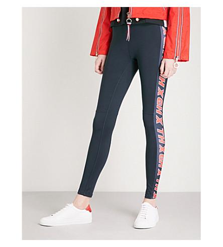 TOMMY HILFIGER Tommy Hilfiger x Gigi Hadid logo-print stretch-jersey leggings (Midnight
