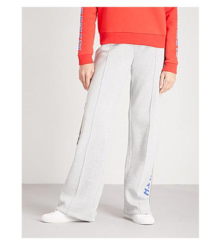 TOMMY HILFIGER Tommy Hilfiger x Gigi Hadid logo-print jersey jogging bottoms (Light+grey+htr