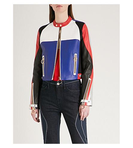 TOMMY HILFIGER Tommy Hilfiger x Gigi Hadid colourblocked leather jacket (Surftheweb/multi