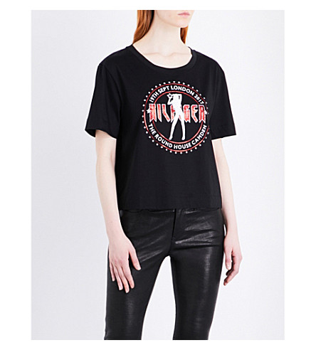 TOMMY HILFIGER Tommy Hilfiger x Gigi Hadid cotton-jersey T-shirt (Black+beauty