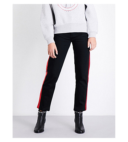 TOMMY HILFIGER Tommy Hilfiger x Gigi Hadid tapered high-rise stretch-cotton jeans (Spark+spark