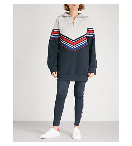 TOMMY HILFIGER Tommy Hilfiger x Gigi Hadid racing stripe jersey sweatshirt dress (Midnight+/+lght+grey